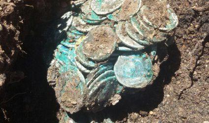 Tesoro de Riotinto: nuevo hallazgo de monedas romanas